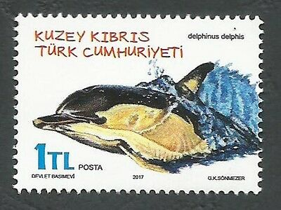 North Cyprus Stamps 2017 Animals Dolphin Delphinus delphis - MINT PERFECT