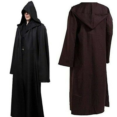 AU Halloween Star Wars Robe Hooded Jedi Knight Master Adults Cloak Cape Costume