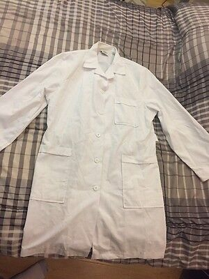 Meta Lab Coat White Doctors Coat With Strap Jacket Size 14