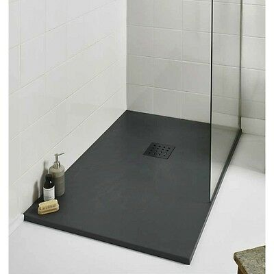 Shower Tray Grey Anthracite 1700 x 900 Suitable for Wet Room / Bathroom
