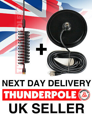 "Thunderpole Orbitor Antenna + 7"" Large Magnetic Mag Mount Kit 