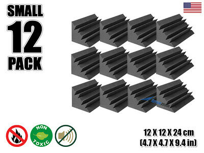 "Arrowzoom 12 pcs 4.7"" x 4.7"" x 9.4"" Acoustic Studio Bass Trap Soundproofing Foam"