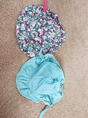 M&S reversible sun hats 6-12 months