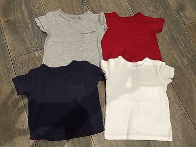 Boys Next T Shirts 3-6 Months Grey Navy Red White
