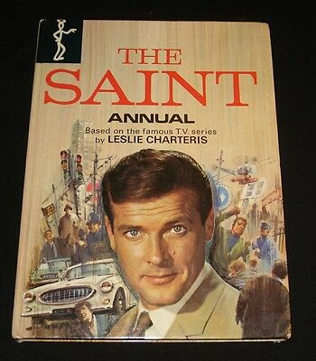 THE SAINT ~ TV SHOW ANNUAL LESLIE CHARTERIS Roger Moore Very Clean Condition
