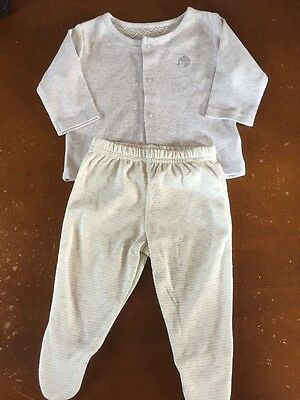 M&S Baby Girls Light Grey Top And Leggings Set. 0-3 Months. Never Worn