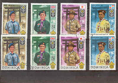 Dominica 1971 Boy Scouts Mint  & Used Sets