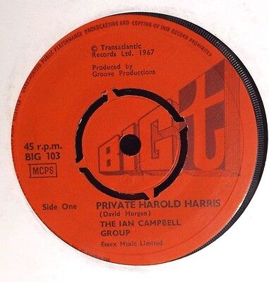 IAN CAMPBELL FOLK GROUP private harold harris / lover let me in 1967 BIG T N/M