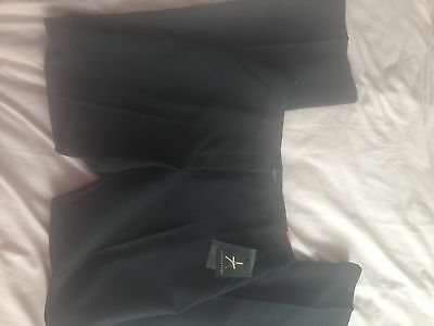 Womens Black Work Formal Trousers Bootcut Size 10