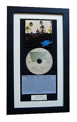 EAGLES Hotel California CLASSIC CD Album TOP QUALITY FRAMED+EXPRESS GLOBAL SHIP