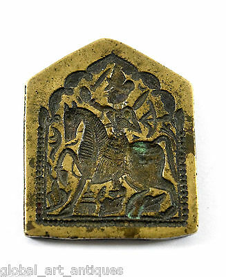 Vintage Beautiful unique Collectible God/Goddess Bronze Stamp/Dye. G46-153