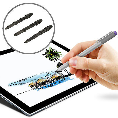WSKEN 3Pcs Replacement Magnetic Touch Stylus Pen Tip For Microsoft Surface Pro 3
