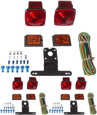 12V Submersible Trailer Lights Kit Tail Light Led Red White Turn Stop Boat Brake