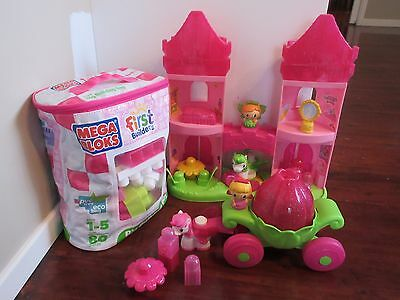 Mega Bloks First Builders Block Bag, Princess Enchanted Castle and Carriage