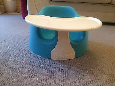 Bumbo floor seat with play tray, blue