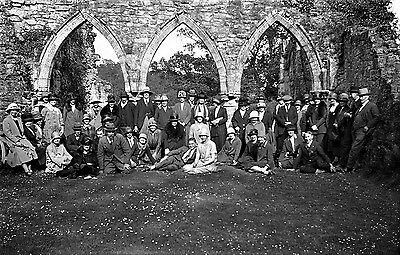 Photographic Glass Negative Bayham Abbey East Sussex 1928 Superb Period Image!