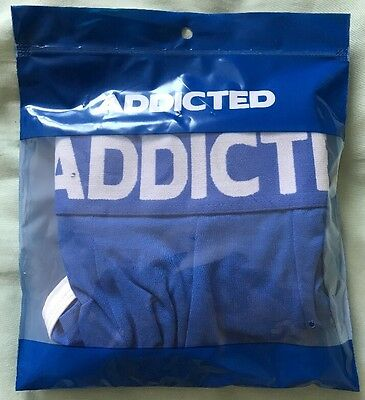 Men's Addicted Blue Boxer/Hipster Style Jockstrap, Size XL