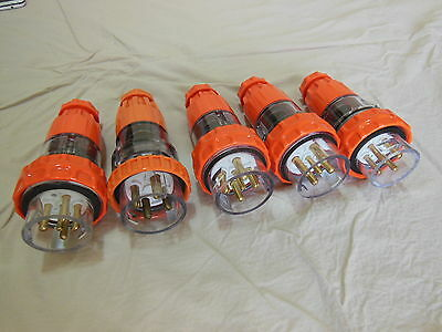 Lot of  Brand New 3 Phase Plugs 20A and 32A 4 and 5 Pin IP66