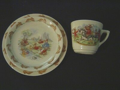 """Lovely  Vintage Royal Doulton China  """"bunnykins"""" Cup, Saucer And Plate Trio"""