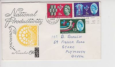 Gb Qeii 1962 Fdc First Day Cover National Productivity Council Year Npy Slogan