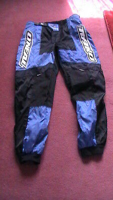 """O'Neal Motocross/Off Road Trousers 36"""" Black/Blue"""