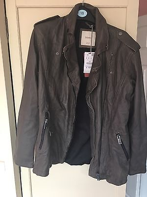 Pull And Bear Leather Jacket Size M Unisex