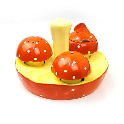Carlton Ware Hand Painted Reg Australian Design Mushroom Cruet FREE EXPRESS POST