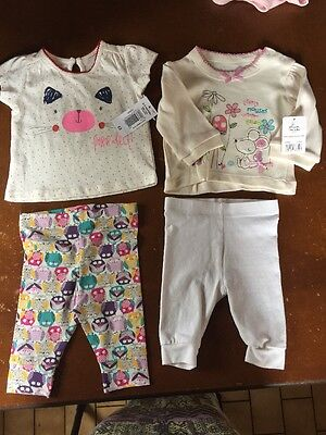 Baby Girls 0-3 Months Top And Leggings Bundle. NEW