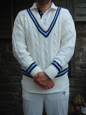 Duncan Fearnley Cricket Sweater Mens XL cable knit