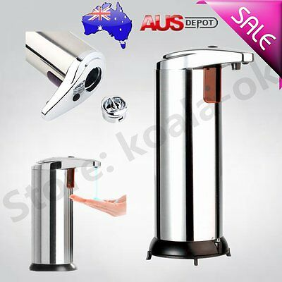 Stainless Steel Handsfree Automatic IR Sensor Touchless Soap Liquid Dispenser Z#