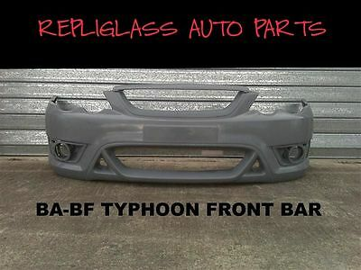 Ford Falcon Ba - Bf Typhoon Front Bumper Bar To Suit Xr Headlights