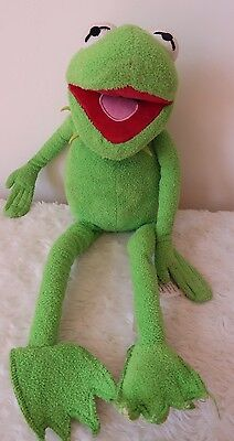 """Disney Store Exclusive Plush Kermit The Frog Green Muppets 21"""""""