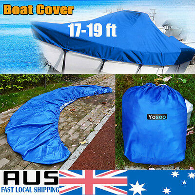 210D Waterproof 17ft-19ft 5.2m-5.8m Marine Trailerable Jumbo Boat Cover Protect