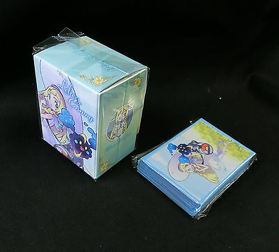 Pokemon Card Sun and Moon Lillie and Cosmog Sleeve (64) Deck Case Set Japanese