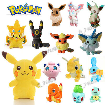 NEW Pokemon Collectible Plush Character Soft Toy Stuffed Doll Teddy Gift