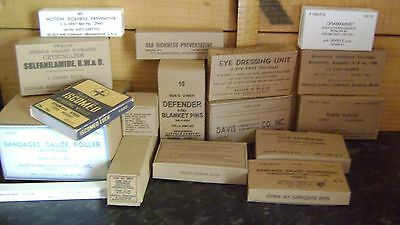 WW2 US Army Medic boxes, repro