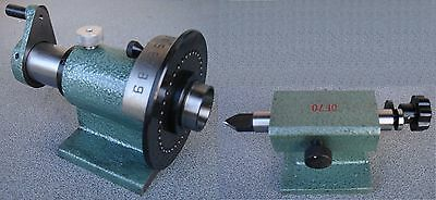 Index System Means Dividing Head for 5c-spannzangen with Matching Tailstock