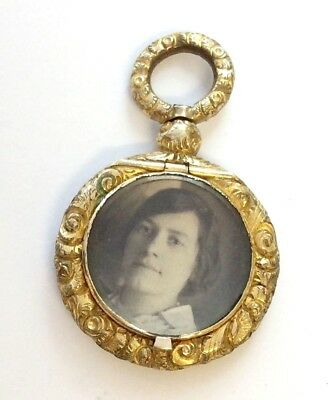 Georgian Rolled Gold Pendant Locket Circa 1830
