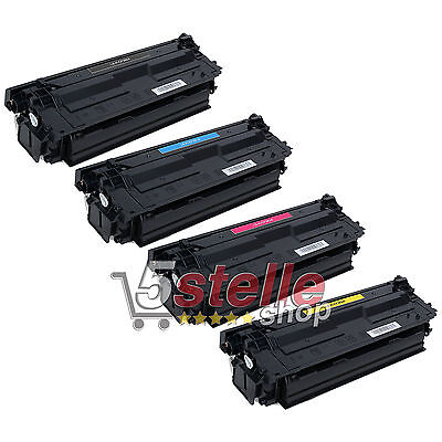 Multipack 4 Toner Per Hp Laserjet Enterprise Flow M577Z 508A Nero + Colori