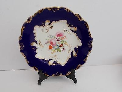 Antique Victorian Cobalt and Gilt Hand Painted Shallow Dish/Plate.