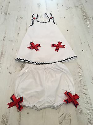 Hand Made Smock Top And Bloomer Set Age 3