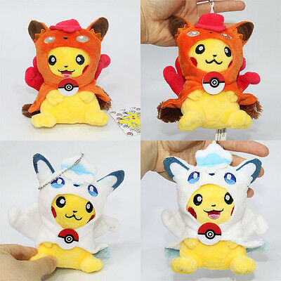 Cute Pokemon Vulpix Plush Keychain Soft Stuffed Doll Toy 5''/13cm Pendant Gift~~