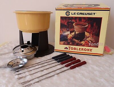 Le Creuset Fondue Cheese Set Toblerone Limited Edition Yellow