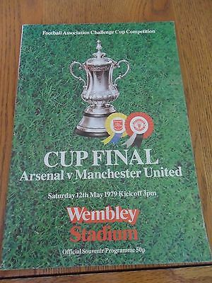 Arsenal V Manchester United- 1979 Challenge Cup Final Football Programme.