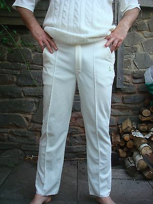 Mens cricket whites cream trousers XL