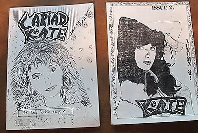 Kate Bush Cariad Kate rare 1987 Welsh fanzine Summer & Autumn issues NM cond
