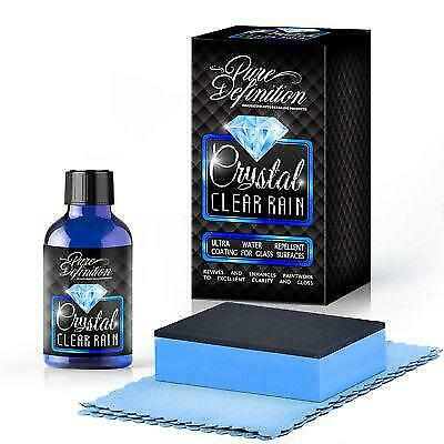 Glass Coating Water Repellent Car Window 15ml Crystal Clear Rain Pure Definition