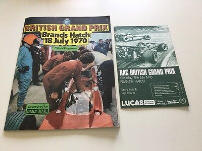 British Grand Prix Brands Hatch 18th July 1970 official programme/entry list
