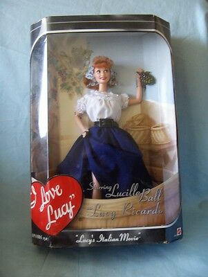 """I Love Lucy Barbie Collectible Doll  """"Lucy's Italian movie"""" Limited Edition 14+"""