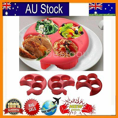 Meal measure Perfect Portion control plate Diet Weightloss Slimming New Safe MX
